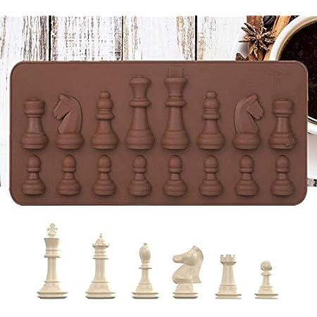 Outils de décoration de gâteau échecs internationaux en forme de chocolat moule