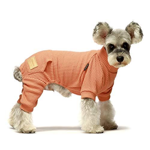 Macacão Fitwarm com gola rolê térmica para cães, pijama de cachorro, roupas para cães, macacões para gatos, salmão pequeno