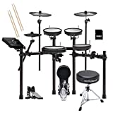 Roland TD17KV V-Drums Kit with TAMA HP910LN Pedal, RDTRV Throne, Kraft Music SD card, and Sticks