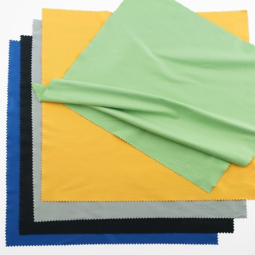 Eco-Fused Extra Large Microfiber Cleaning Cloths - 20 Pack - 12 x 12 inch - for Smartphones, Tablets, TV, Notebook or Desktop Screen, Display Cabinets, Mirrors, Glass Tables and Ceramics