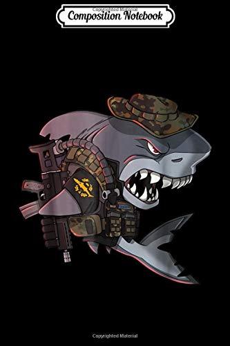 Composition Notebook: Combat Diver Shark - German Bundeswehr Kampfschwimmer Journal/Notebook Blank Lined Ruled 6x9 100 Pages