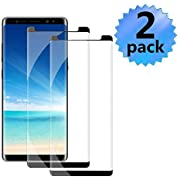 [2 Pack] Samsung Galaxy Note 9 Tempered Glass Screen Protector, Xacxin [HD Clear][Anti-Bubble][9H Hardness][Anti-Scratch][Anti-Fingerprint] Screen Protector Note 9 Black