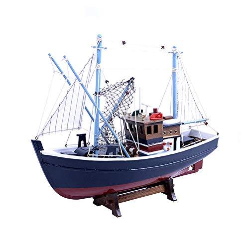 DressU Longevidad Militar Modelo del Barco de Vela, Simulación de Buques Barco de los Pescados Modelo, decoración del hogar y Regalos, 15.7Inch X 12.6Inch Durabilidad