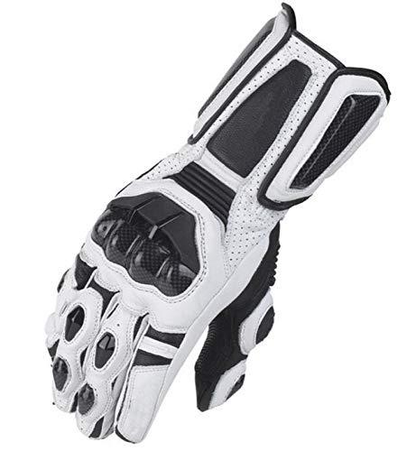 zhenfa Langfinger atmungsaktiv Anti-Rutsch-Motorrad-Rennsport Leder, Kohlefaser-Handschuhe Racing Handschuhe Anti-Rutsch