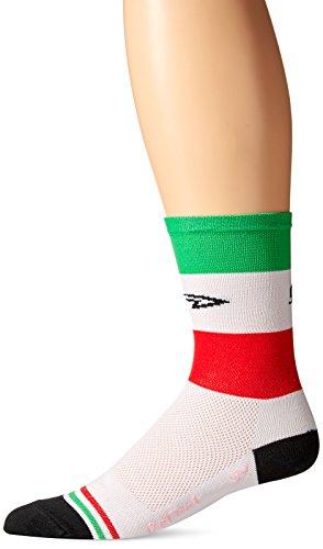 Defeet Aireator Socken Italia Medium Rot/Weiß/Grün