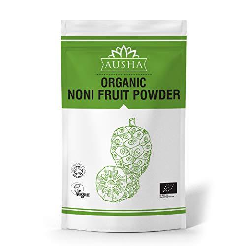 Ausha Organic Noni Fruit Powder 100g (Vitamin C,Anti Ageing,Noni Juice,Overall Wellness)