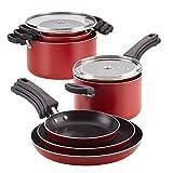 Farberware 22246 Neat Nest Dishwasher Safe Nonstick Saucepan Pots and Pans Set,...