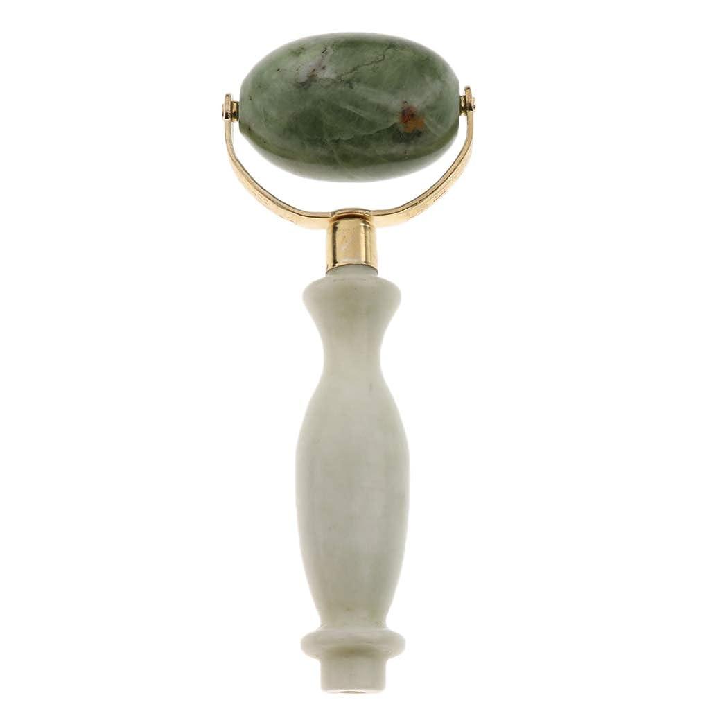 四回川世界的にFLAMEER 美容ローラー 美顔ローラー  フェイシャル マッサージ 美顔器 美肌 天然 翡翠石 2種選ぶ 健康 - スタイル2