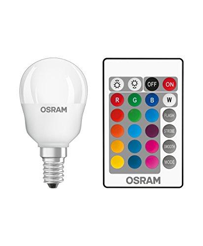 Osram LED Star+ Classic P RGBW Lampe, En Forme De Larme Avec Base E14, Gradation Et Contrôle Des Couleurs Par Télécommande, Remplace 25 Watts, Blanc Chaud - 2700 Kelvin, 1 Pack