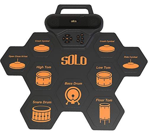 ACEBON 2020 Más Reciente Batería Electrónica, Drum Set, Roll Up De Batería Midi Drum Kit con Auriculares Y Altavoces Integrados Drum Pedals Y Baquetas, Niños