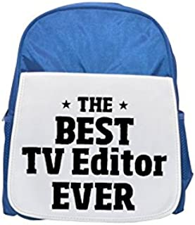 THE BEST TV Editor EVER printed kid's blue backpack, Cute backpacks, cute small backpacks, cute black backpack, cool black backpack, fashion backpacks, large fashion backpacks, black fashion backpack