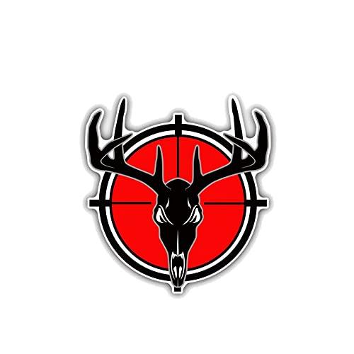 YLZH Etiqueta engomada del coche de color 10.2cmx10.9cm Personalidad Pegatina de coche Ciervo Skull Target Decal de caza PVCステッカー Logo sticker