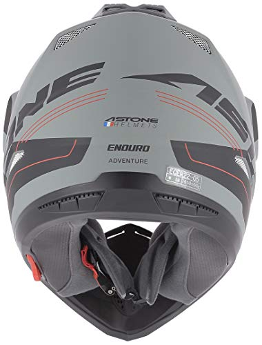Astone Helmets tourer-advbrl Kopfhörer Tourer Adventure, Grau/Schwarz, L - 8