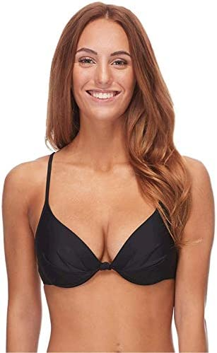 Body Glove Women s Smoothies Greta Solid Molded Cup Push Up Underwire Bikini Top Swimsuit Black product image
