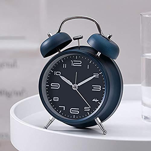 Gemakkelijk Te Twin Bell Alarm Clock, Vintage Old Fashion Design Luid Alarm Voor Zware Slapers 'S Nachts Licht Aan Te Passen Voor Het Bureau Tafel Planken Bedroom,A