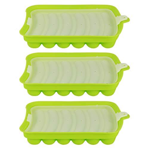 nobrands Molde de Salchicha 3 uds, Molde de Silicona para Perros Calientes de Salchicha, Molde para Hacer jamón DIY, complemento de Comida para bebés, Herramientas para Hornear(Verde)