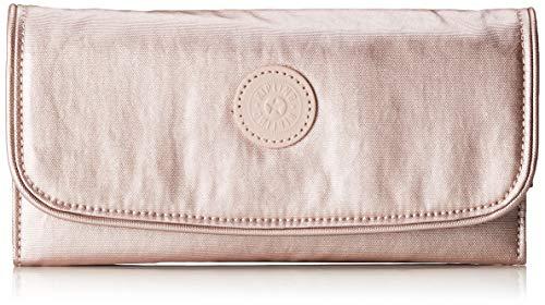 Kipling Damen Money Land Geldbörse, Pink (Metallic Rose), 18.5x10x3 cm