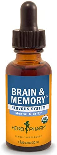 Herb Pharm Brain and Memory Liquid Herbal Formula with Ginkgo for Memory and Concentration, 4 Fl Oz