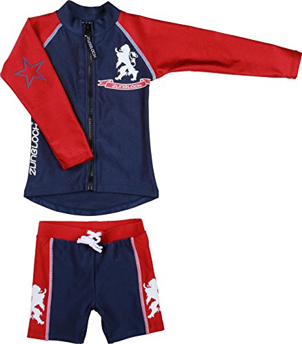 Zunblock Baby UV 50 Plus Sets Lion, Navy/Red, 74/80