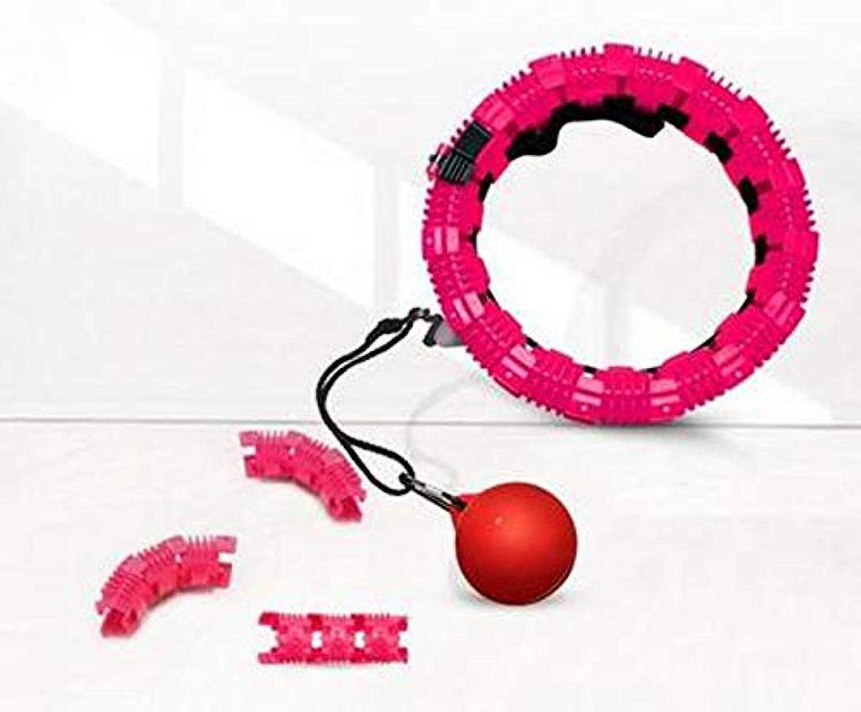 QIA Abnehmbare Verhindern Muskelzerrung Hula Hoop Hoop für Sport & Outdoor Anfnger Dünne Größe (21 Knoten   95 cm Größe)