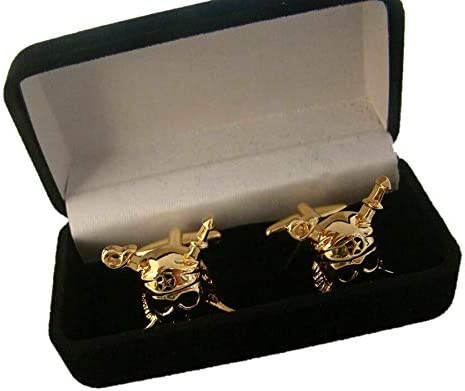 Pair of US Navy Marine Corps Pirates Style Personality Cuff Links Badge