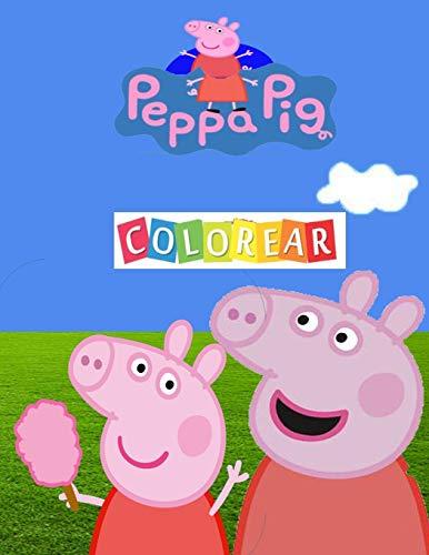 Peppa Pig Colorear: Gran libro para colorear para niños de 4 a 10 años