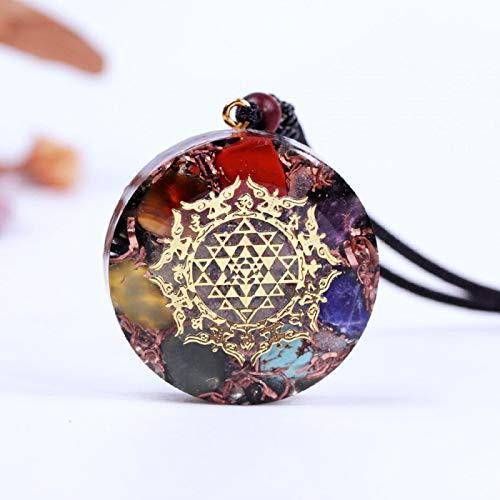 Ucjhxfr - Collar con colgante de obsidiana de cristal natural, con colgante de ojo de obsidiana de energía potente