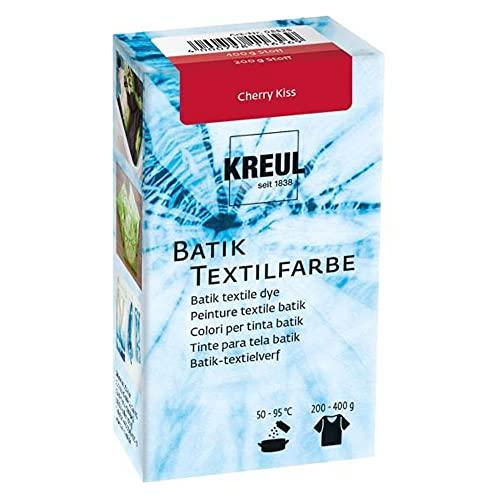 Kreul 98525 - Batik-Textilfarbe Cherry Kiss, 70 g, Farbpulver zum Batiken und Färben von Textilien