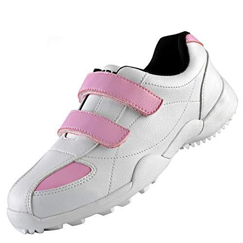 Fenghz-Shoes Schuhe Mode Damen Sport wasserdichte Schuhe Golfschuhe, (Farbe : Rosa, Size : 32)