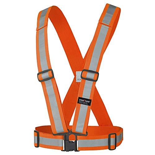 Pioneer Adjustable Tear-Away Lightweight Premium High Visibility Safety Vest Sash, Refelctive Stripe, Orange, V1040850-O/S