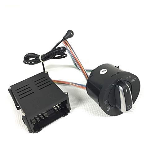 SHOUNAO Sensor de luz automática con Interruptor de Faros Que Sale de la casa Que Viene a casa Función Ajuste para VW Polo Golf 4 Jetta MK4 Passat B5 B5.5 (Color : Sensor with Switch)