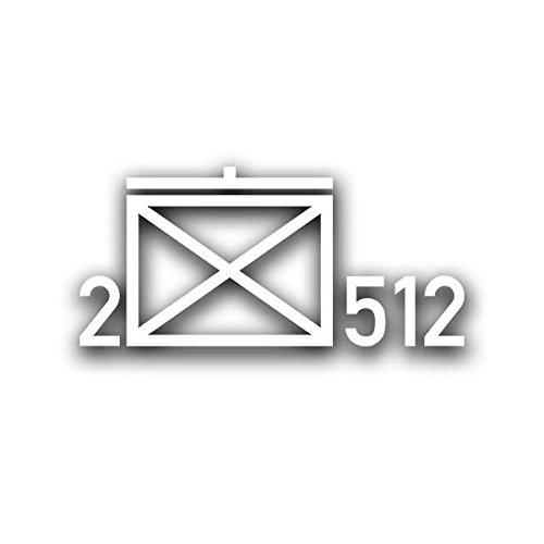 2 JgBtl 512 Taktische Zeichen Aufkleber Bundeswehr Jäger-Bataillon Sticker 15x6cm #A4405