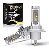 【最新 業界初モデル 】BORDAN H4 LED ヘッドライト HI/LO 切り替え 新基準車検対応 ファンレス 16W 6000K 新開発CSPLEDチップ搭載 12V車対応 ホワイト 6500K 3年保証 2個入