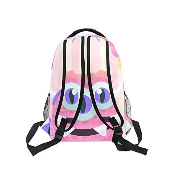 410TdA2tEJL. SS600  - Mochila Escolar Rosa Monster Student Mochila Grande para niñas niños Escuela Primaria Bolsa de Hombro Bolsa de Libros