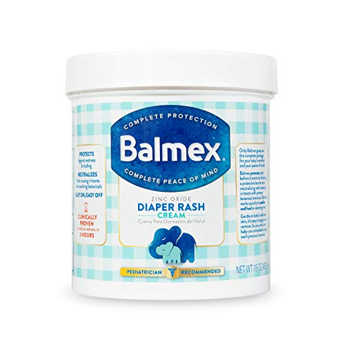 Balmex Complete Protection Baby Diaper Rash Cream with Zinc Oxide  Soothing Botanicals 16 Ounce