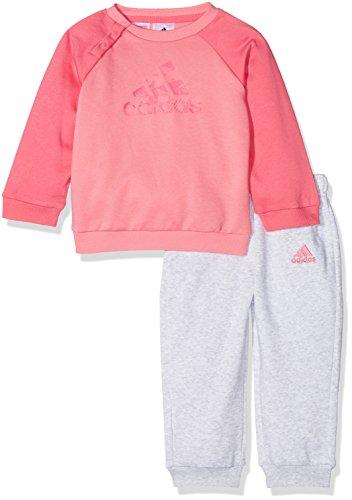 adidas I E Logo Jog FL Chándal, Unisex bebé, (rostiz/Rosa/bayint), 92 (1/2...