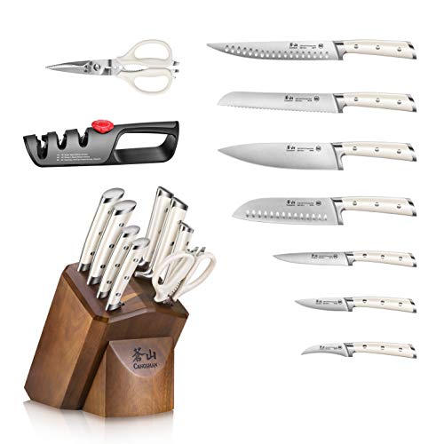 Cangshan S1 Series 1026139 German Steel Forged 10-Piece Knife Block Set