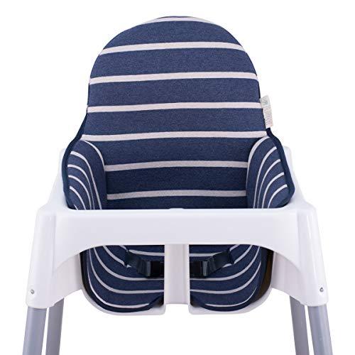 JANABEBE Colchoneta para trona antilop Ikea (Sailor Stripes)
