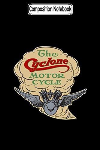 Composition Notebook: Cyclone Crisp Biker Motorcycles Notebook