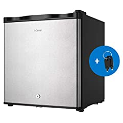 SPACE SAVING COMPACT UPRIGHT FREEZER - This freestanding small freezer with 17.5 x 18.3 x 19.8 inches measurement and 1.1 cubic feet capacity is perfectly sized to keep your favorite food in a deep freeze while taking up less space in your college do...