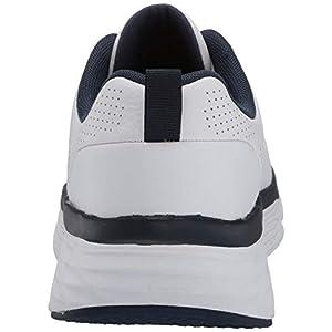 Skechers Men's Max Cushioning Elite Lucid-Premium Leather Walking & Running Shoe Sneaker, White/Navy, 10.5 D US