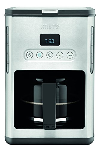 KRUPS KM442D Control Line Programmable Coffee Maker Machine with Stainless Steel Finish, 10-Cup, Silver