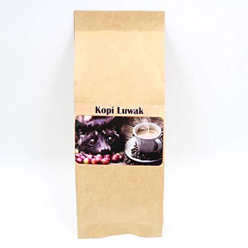 【簡易ギフトバッグ包装済】[hana87] 100% コピ・ルアク コーヒー 100g (約10杯分)【焙煎豆(粉ではありません)】(ジャコウネコ コーヒー) cf-1-beans100g-gift