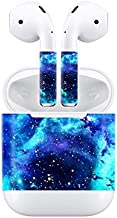 Skin Sticker Decal Cover for Apple Airpods Blue Starry Galaxy Design