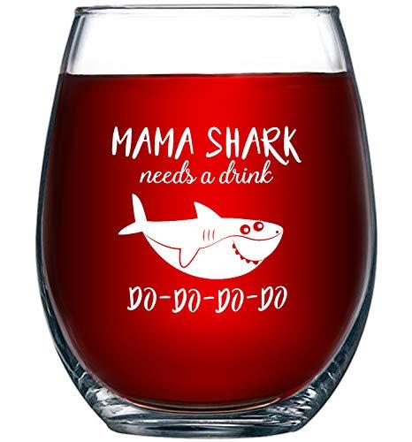 """Mama Shark Needs a Drink"" Glass"