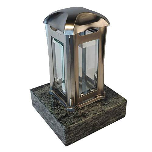 designgrab AEL5AGB1Oliv Grablampe Royal aus Edelstahl-bronzefarben, Silber, 13 x 13 x 24 cm