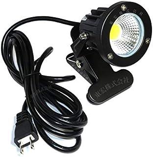 電球色 LEDクリップライト 小型 (PSE)規格品 防雨 防水型 7W スイッチなし コード長3m 看板用 黒板用照明 店舗看板用 店頭看板 LEDライト 電気スタンド デスクスタンド アームライト ピッコロライト アウトドア エクステリアライト (スイッチなし-電球色)