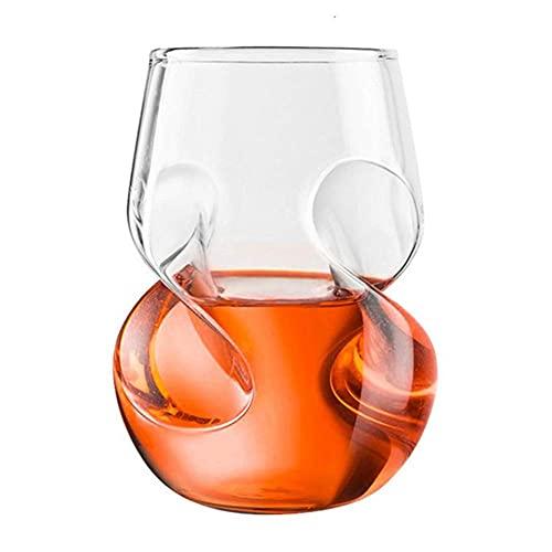 Youdert Copas de Vino de 16.6oz, Torce Fit Hand Wine Vietbler, para la Barra de Inicio, Boda y Fiesta de año Nuevo - Conjunto de 2