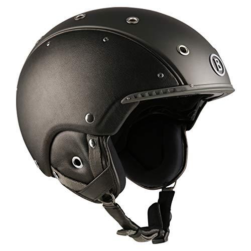 Bogner Ski-Helm Leather | Ruthenium | Ski & Snowboard | Hochwertige Qualität (Größe: L - Kopfumfang 58-62cm)