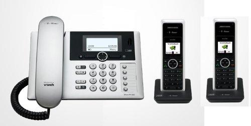 Telekom T-Home Sinus PA302i plus 2 , ISDN Telefon DUO SET inkl. 2 Mobilteilen und Anrufbeantworter